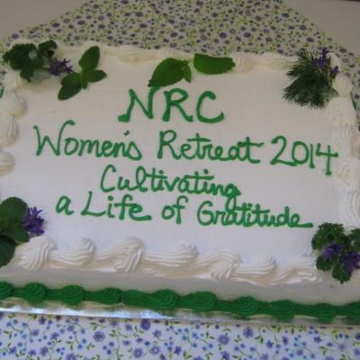 2014 NRC Women's Retreat Cake