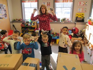 Niskayuna Reformed Church News Nursery School Snowball Fight 7