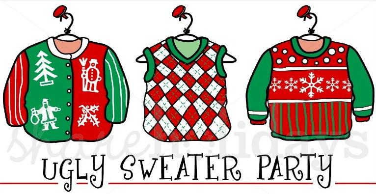 Ugly Christmas Sweater Cartoon.Ugky Sweater Party Niskayuna Reformed Church