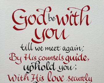 God Be With You Niskayuna Reformed Church