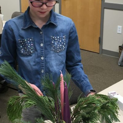 Creating an Advent Wreath